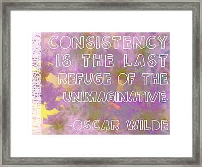 Consistency Framed Print by Abbey Hughes