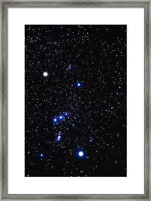 Constellation Of Orion With Halo Effect Framed Print by John Sanford
