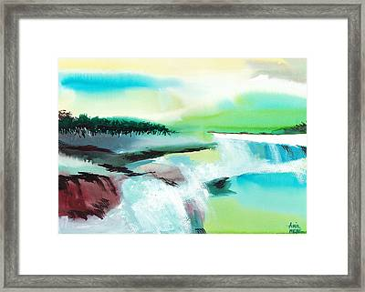 Constructing Reality 1 Framed Print by Anil Nene