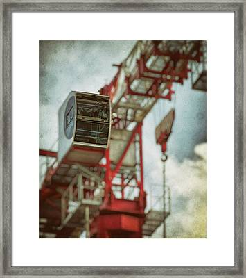 Construction Crane Framed Print by Wim Lanclus