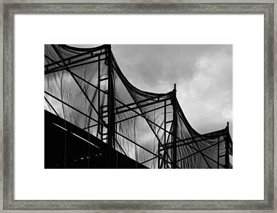 Construction Site Framed Print by Robert Ullmann