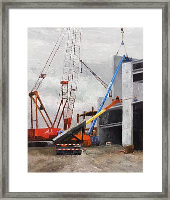 Construction Study In Grey Framed Print by Nancy Albrecht