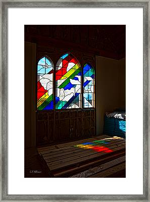 Construction Under Colors Framed Print by Christopher Holmes