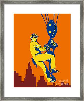 Construction Worker Framed Print by Aloysius Patrimonio