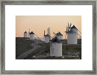 Consuegra Windmills Framed Print by Heiko Koehrer-Wagner