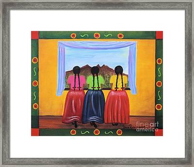 Contemplando Framed Print by Sonia Flores Ruiz