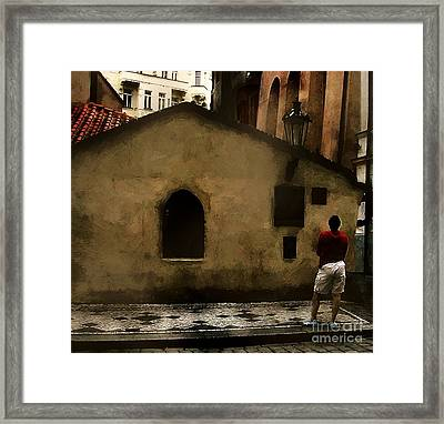 Contemplating Antiquity Framed Print by RC DeWinter