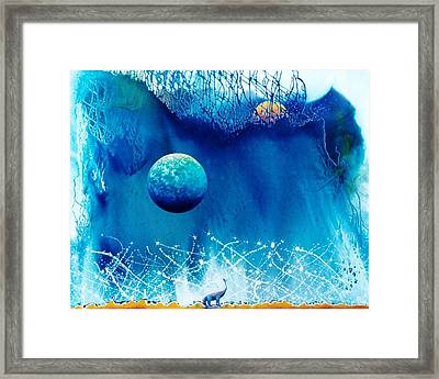 Contemplating The Leap To Hyperspace Framed Print by Lee Pantas