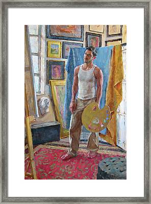 Contemplation In The Studio Framed Print by David Tanner