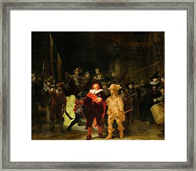 Contemporary 1 Rembrandt Framed Print by David Bridburg