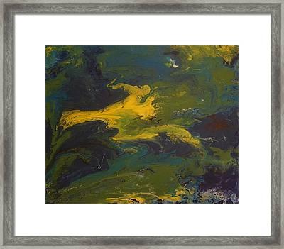 Contemporary Abstract Painting -  Goldilocks Zone Terrain No 2 Framed Print by Adam Asar