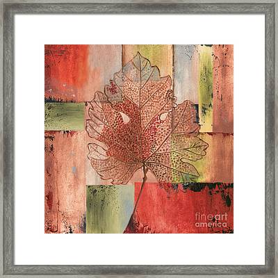 Contemporary Grape Leaf Framed Print by Debbie DeWitt