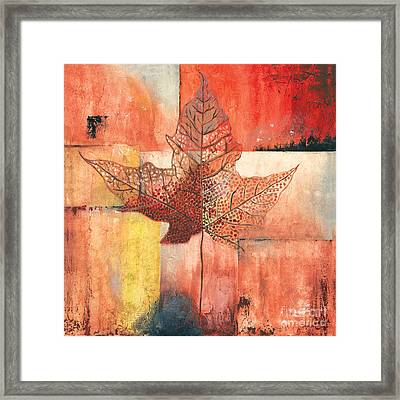 Contemporary Leaf 2 Framed Print by Debbie DeWitt