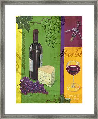 Contemporary Wine Collage I Framed Print by Paul Brent