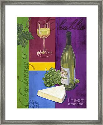 Contemporary Wine Collage II Framed Print by Paul Brent