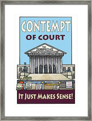 Contempt Of Court Framed Print by Ricardo Levins Morales