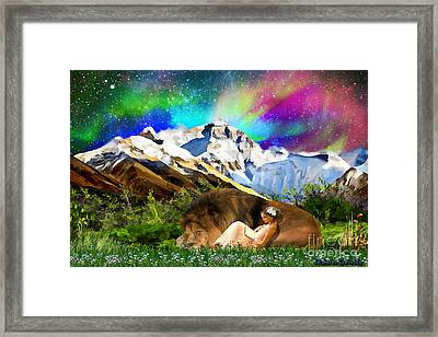 Content With The King Framed Print by Dolores Develde