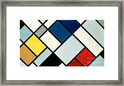 Contracomposition Of Dissonances Framed Print by Theo van Doesburg