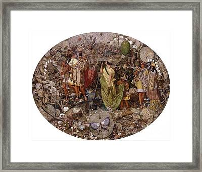 Contradiction Framed Print by Richard Dadd