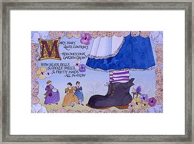 Contrary Mary Framed Print by Victoria Heryet