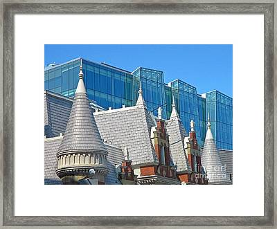 Contrasting Architecture Framed Print by John Malone