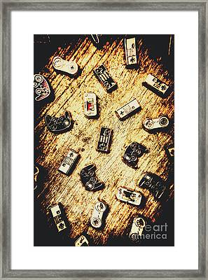 Controllers Of Retro Gaming Framed Print by Jorgo Photography - Wall Art Gallery