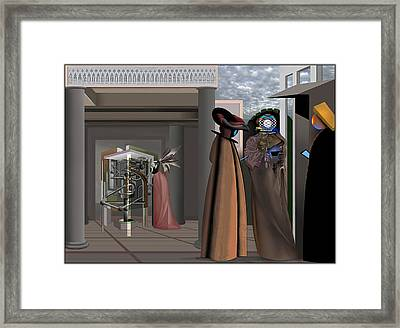 Conversation In The Age Of Oblivion Framed Print by Guy Ciarcia