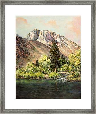 Convict Lake In May Framed Print by Donna Tucker