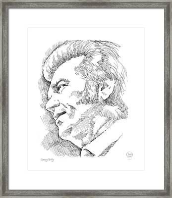 Conway Twitty Framed Print by Greg Joens
