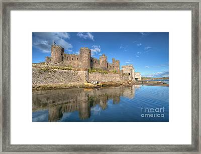 Conwy Castle Framed Print by Adrian Evans