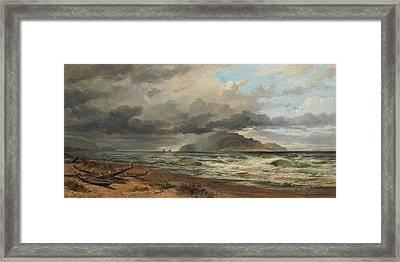 Cook Strait. New Zealand  Framed Print by Nicholas Chevalier