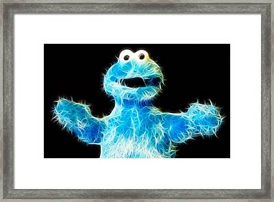 Cookie Monster - Sesame Street - Jim Henson Framed Print by Lee Dos Santos