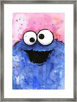 Cookie Monster Framed Print by Olga Shvartsur