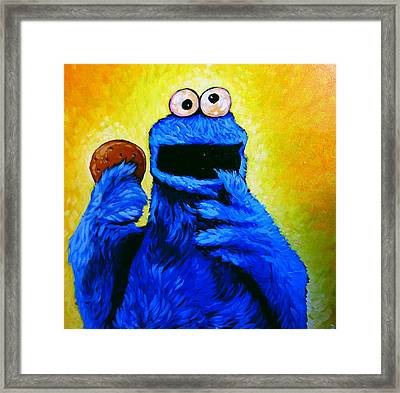Cookie Monster Framed Print by Steve Hunter