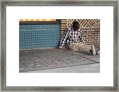 Cool Cement Framed Print by Joe Jake Pratt