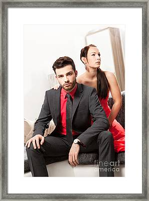 Cool Couple Framed Print by Wolfgang Steiner