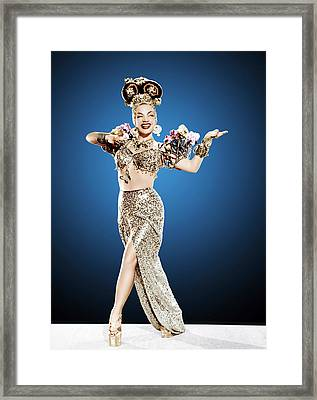 Copacabana, Carmen Miranda, 1947 Framed Print by Everett
