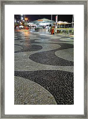 Copacabana Night Framed Print by George Oze