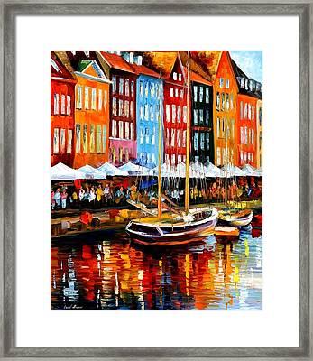 Copenhagen Denmark Framed Print by Leonid Afremov