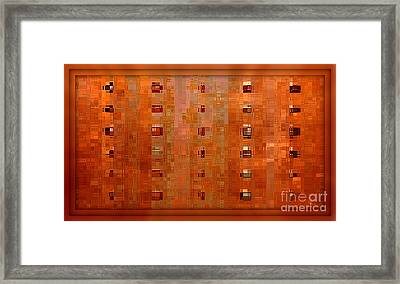 Copper Abstract Framed Print by Carol Groenen