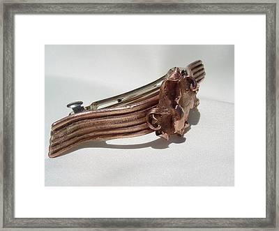 Copper Barrette 1 Framed Print by Steve Mudge