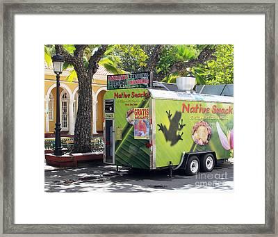 Coqui Snack Truck Framed Print by Cheryl Del Toro