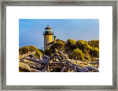 Coquille River Lighthouse Framed Print by Garry Gay