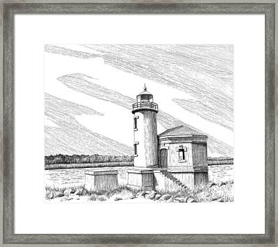 Coquille River Lighthouse Framed Print by Lawrence Tripoli