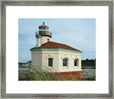 Coquille River Lighthouse Framed Print by Nick  Boren