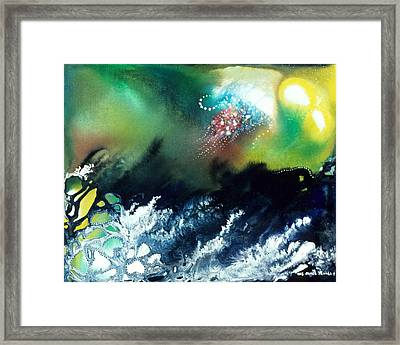Coral Reef Of The Pacific Angel Framed Print by Lee Pantas