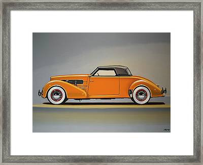 Cord 810 1937 Painting Framed Print by Paul Meijering