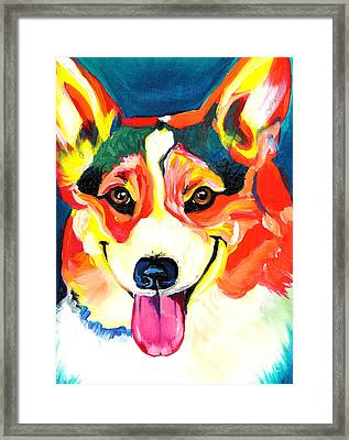 Corgi - Chance Framed Print by Alicia VanNoy Call
