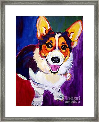 Corgi - Taste The Rainbow Framed Print by Alicia VanNoy Call