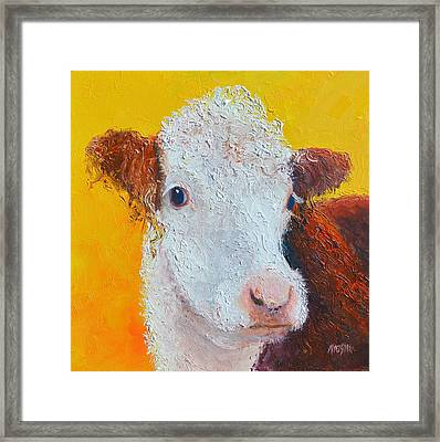 Coriander The Cow Framed Print by Jan Matson